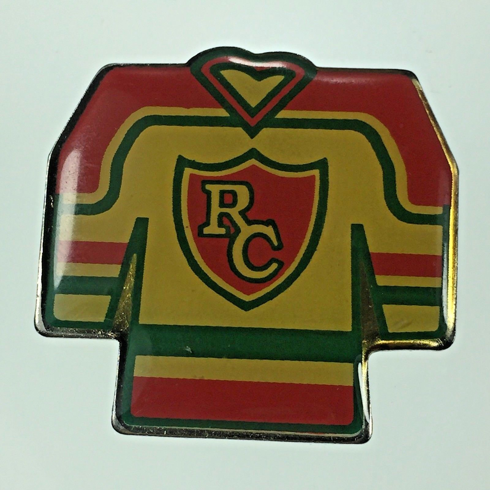 Primary image for Vintage Hockey RC Rochester College Team Hockey Uniform Jersey Lapel Pin