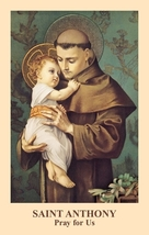 Saint Anthony Prayercard ( 10 Packs of 100) by Anonymous