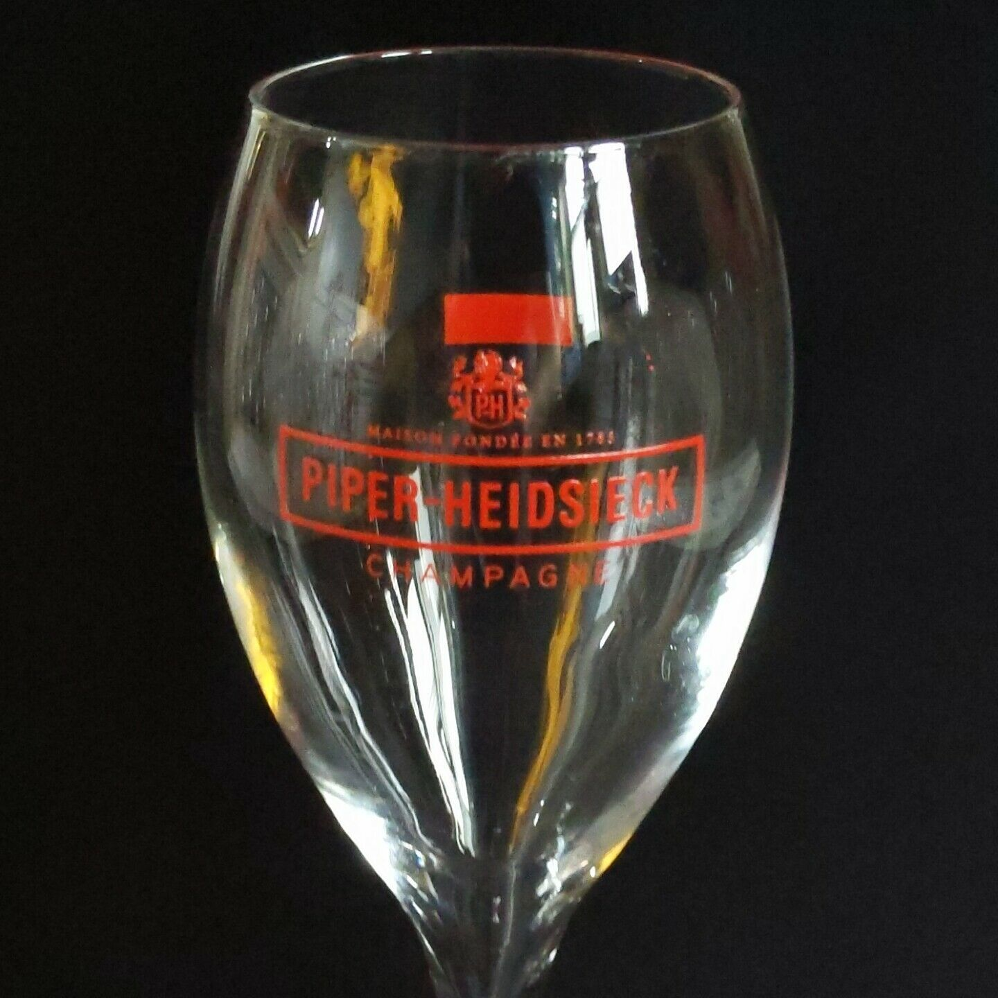 6 (Six) PIPER-HEIDSIECK RED LOGO Maison Fonde'e  1785 Crystal Champagne Flutes image 4