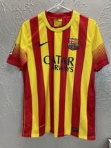 Barcelona Jersey 2013 2014 Away Shirt Mens Qatar Airways Fabregas 4 Size... - $42.03