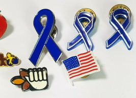 8 Vintage Lapel Pins Daffy Duck Teachers Apple Blue Ribbons And More See Photos image 3