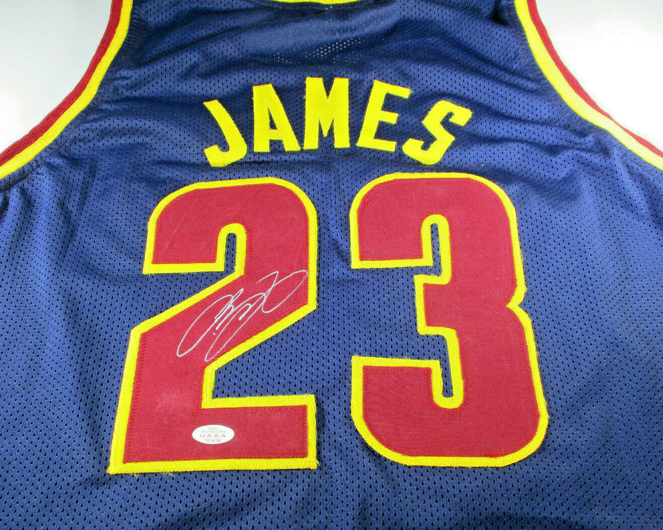 quality design b20b7 af72c LEBRON JAMES / AUTOGRAPHED CLEVELAND CAVALIERS BLUE CUSTOM JERSEY / WITH COA