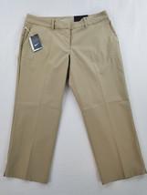 new NIKE GOLF women pants 725712 dri-fit stay cool khaki beige 14 MSRP $85 - $35.99