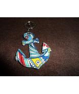 Vera Bradley Marina Paisley Seashore Anchor keychain NWOT  - $13.50
