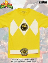Power Rangers Amarillo Ranger Superhéroe Disfraz Halloween Camiseta - $20.99+