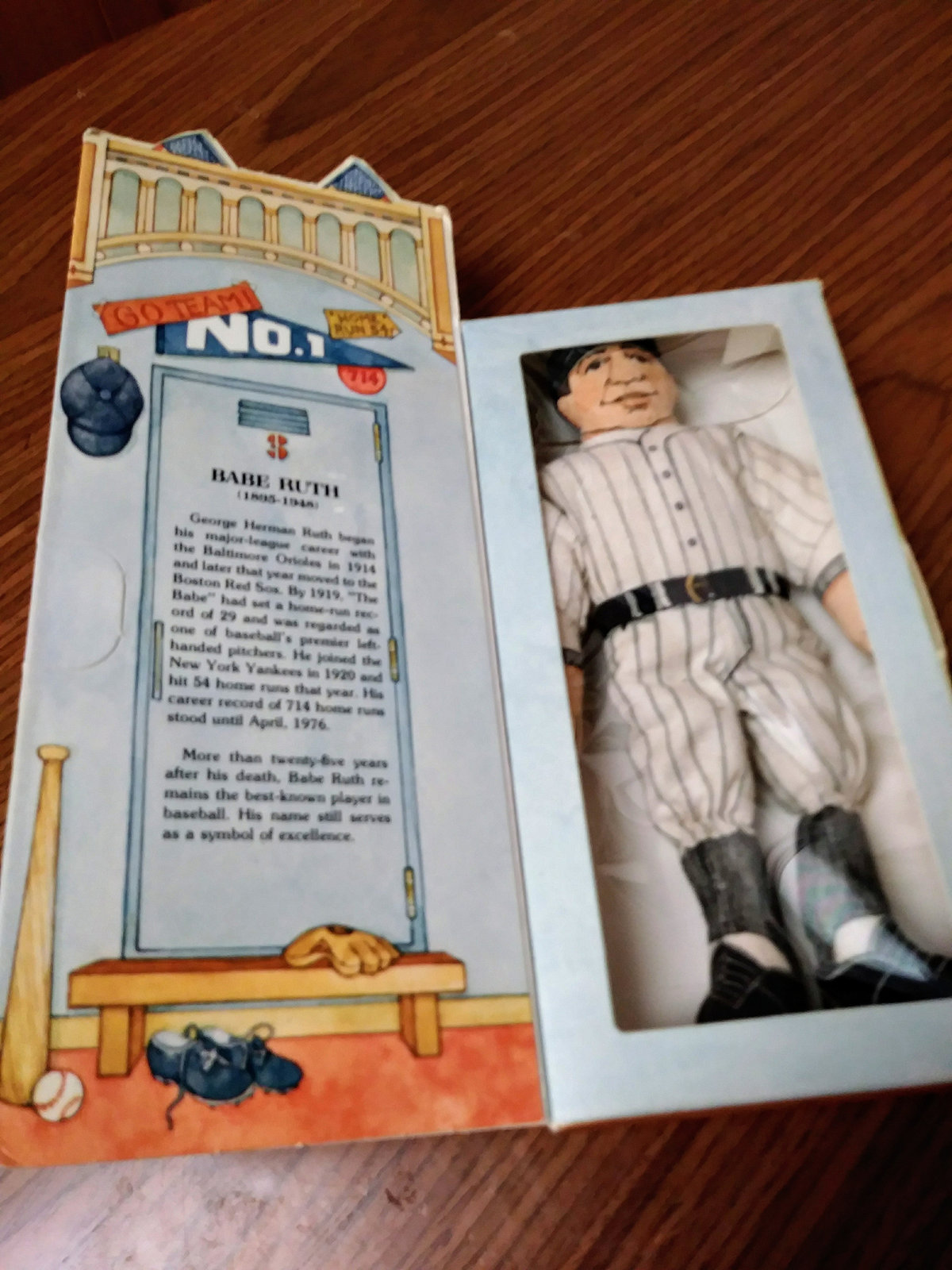 1979 Hallmark Series 1 Babe Ruth Collectible Doll in Box