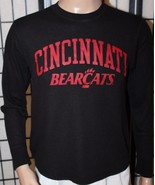 Original League CINCINNATI BEARCATS Men's Black Long Sleeve Ribbed Shirt... - $14.50