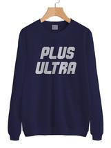Plus Ultra Boku no Hero Academia Sweater Sweatshirt NAVY - $30.00