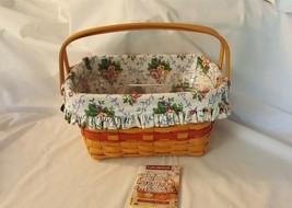 Longaberger 1997 Mother's Day Timeless Memory Basket #13030 Liner Protec... - $39.95