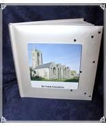 "White Book-bound Fleur De Lys 10"" x 9""  Wedding Personalised Photo Album... - $38.48"