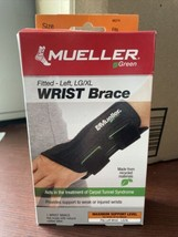 Mueller Green Fitted Wrist Brace Left Hand L/XL, Carpal Tunnel Syndrome - $23.00