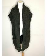 Alice + Olivia Womens Wool Knit Long Sleeve Open Front Cardigan Green Gr... - $39.95