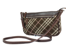 Auth BURBERRY LONDON BLUE LABEL Canvas Leather Browns Cross-body Shoulde... - $138.00