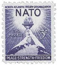 1952 3c NATO US Postage Stamp Catalog Number 1008 MNH