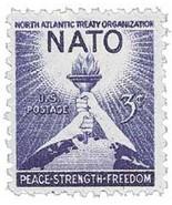 1952 3c NATO US Postage Stamp Catalog Number 1008 MNH - £3.59 GBP