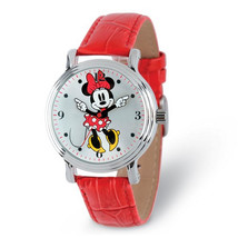 Disney Adult Size Red Strap Minnie Mouse with Moving Arms Watch - $47.00
