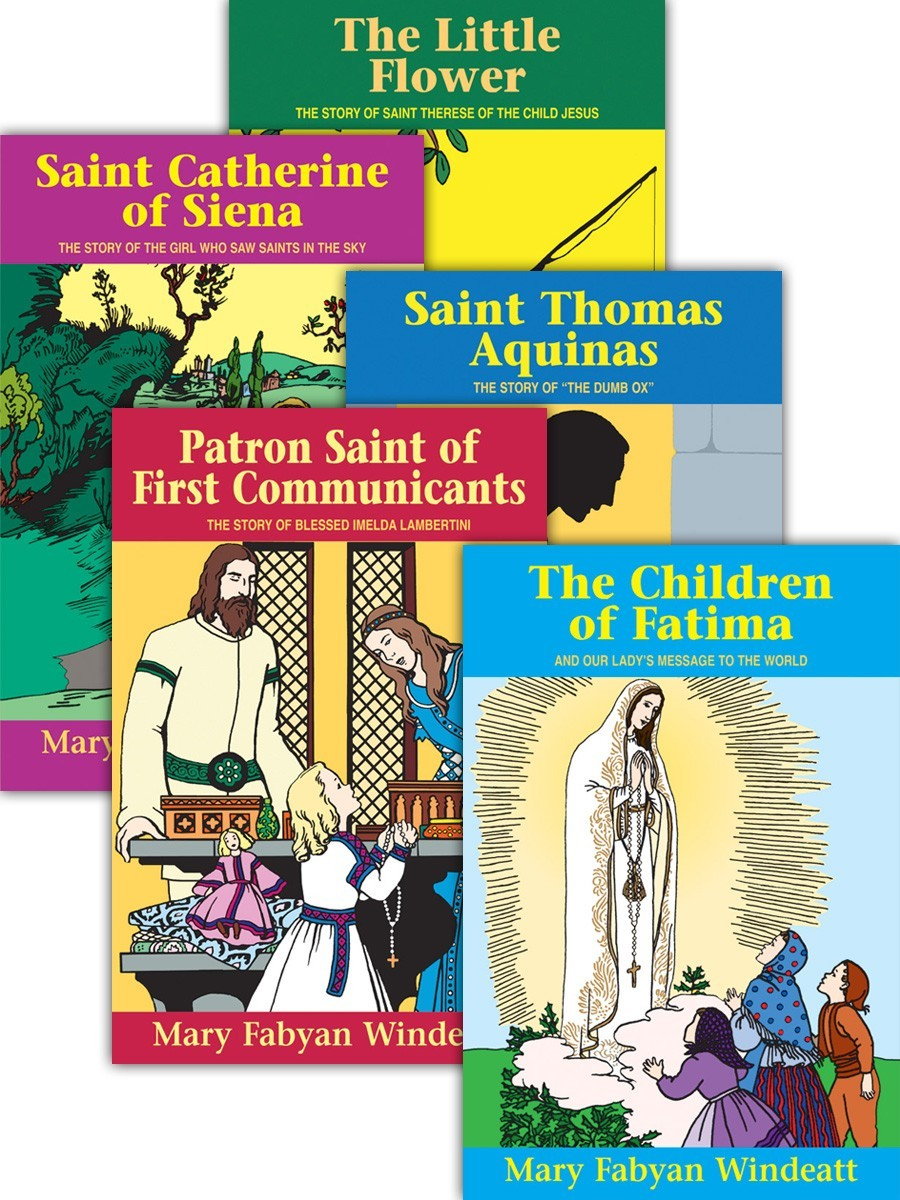 Lives of the saints by mary fabyan windeat  set of 5
