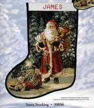 Candamar Christmas Needlepoint Stocking Holiday Craft Kit, SANTA,Gelsing... - $172.99