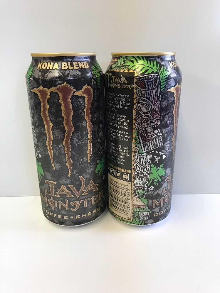 Monster Energy Drink Kona Blend. Set Of 2 Full Cans