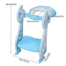 Toddler Potty Ladder Seat Toilet Step Stool for Kids Potty Training, Foldable Ad image 8