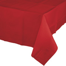 Classic Red 54 x 108 Tissue/Poly Tablecover/Case of 24 - $80.82