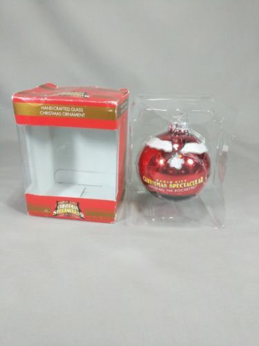 Kurt Adler Santa Ornament Radio City Christmas Spectacular Rockettes Handcrafted