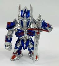 "TRANSFORMERS THE LAST KNIGHT Optimus Prime M407 4"" Metal Figure Jada Toys - $11.65"
