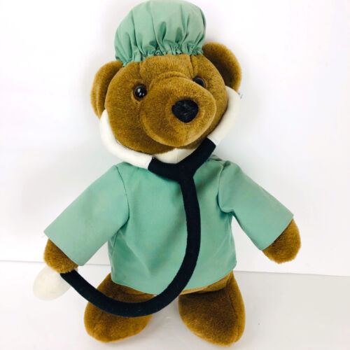Primary image for Doctor Nurse Bear Plush Cuddle Me Toys Surgery Stethoscope Stuffed Animal Tag Dr