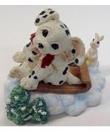 Hamilton Collection Dalmatian Dog Figurine Spot Goes Sledding 1996 - $15.79