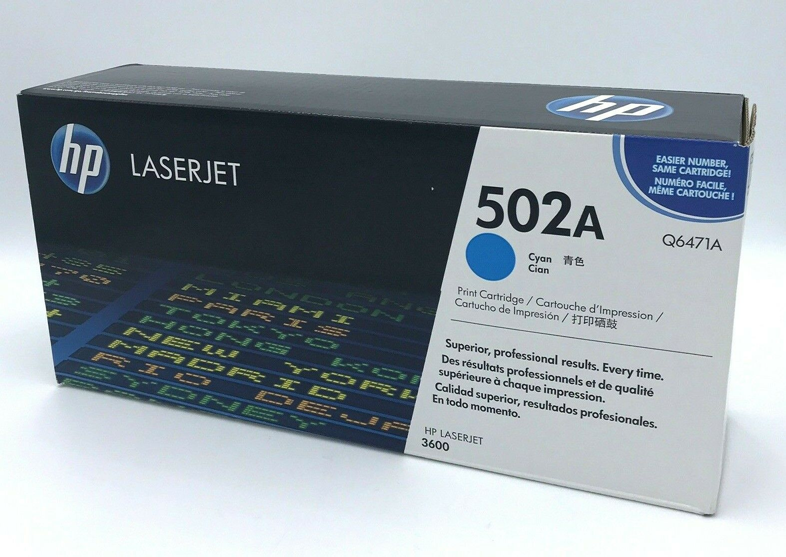 Primary image for HP Laserjet 502A Cyan Q6471A Sealed Genuine