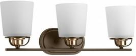 Bathroom Vanity Lighting 23.25 in. W 3-Light Adjustable Shades Antique B... - $180.30