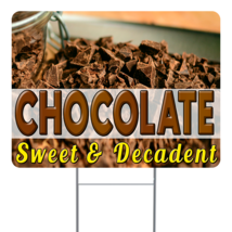 """Chocolate 24"""" x 18"""" Double Sided Road Yard Sign: Heavy Duty Stake - $35.00"""