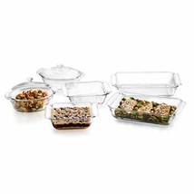 Libbey Baker's Premium 6-Piece Glass Casserole Baking Dish Set with 2 Co... - $56.67
