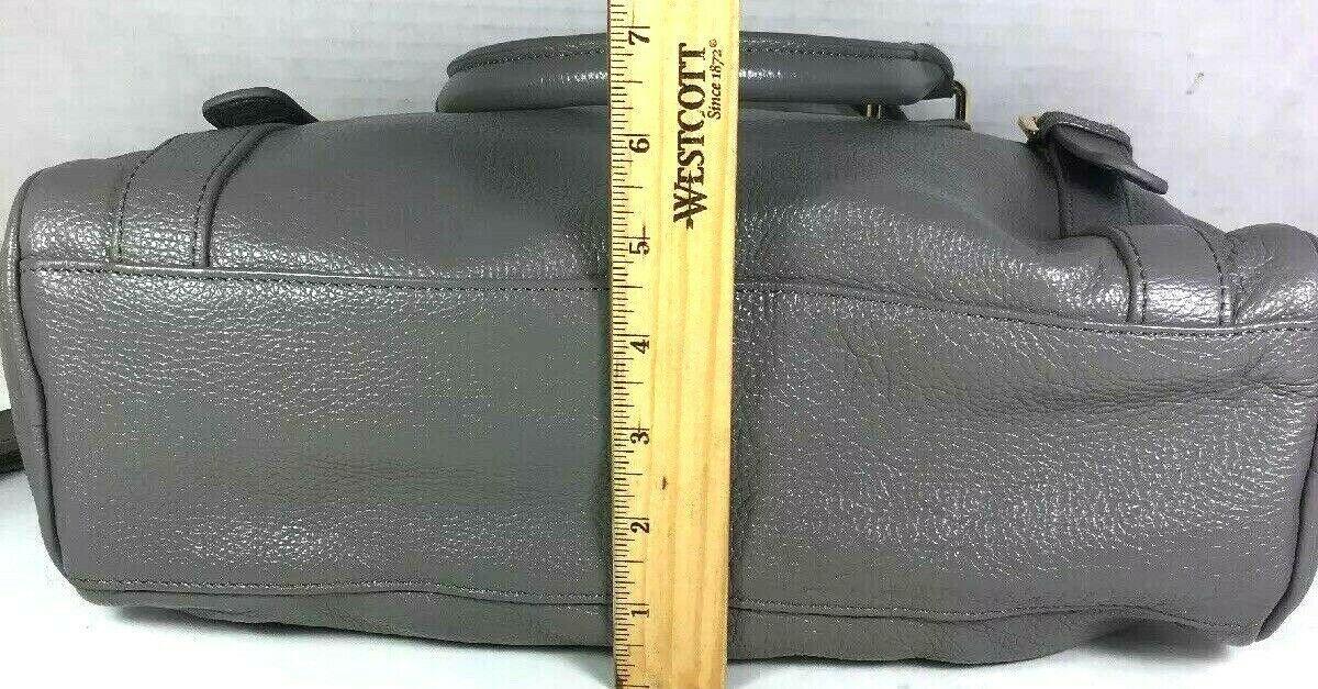 Erica Anenberg Grey Leather Cross Body Satchel Shoulder Bag image 8