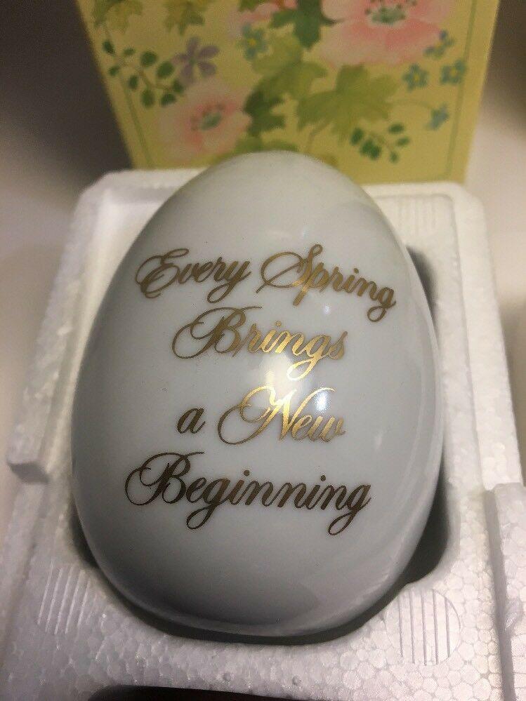 Vintage Avon 4 Seasons Pircelain Egg Series Spring Summer NIB