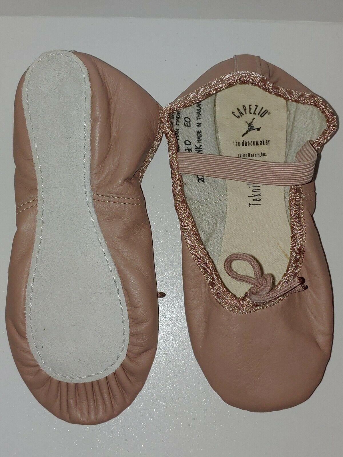 Capezio Youth Teknik 200C PNK Pink Full Sole Ballet Shoe Size 13.5D 13.5 D