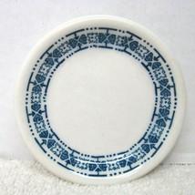 Vintage Ironstone Butterpat Restaurant Ware Blue & White Flower & Line D... - $18.32