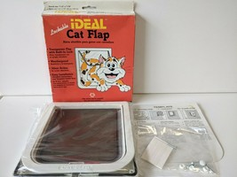 Vintage 1995 Ideal Pet Products Cat Flap Swinging Lockable Weatherproof NEW - $19.16