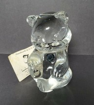 Fenton Crystal Glass Birthday Bear, December, Blue Zircon, Figurine Pape... - $17.72