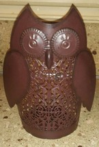 "Accent Decor Owl Metal Tea light Candle Holder Punched 8"" - $17.81"