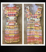 Plenty by Tracy Reese Dress Size 6 Womens Anthropologie Brilliant Chaos ... - $34.64