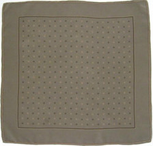 Quality 100% Silk Crepe Pocket Square Scarf - Taupe Brown - $16.00