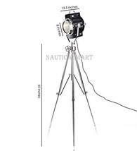 Black Nickel Finish Steel Tripod Floor Lamp By Nauticalmart - $286.11