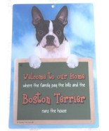3D BOSTON TERRIER WELCOME SIGN STUNNING EYE CATCHING 23CM X 15CM DURABLE... - $5.18