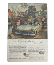 New England Has Everything Ford Dealers If New England Vintage Print Ad 1957 - $15.79
