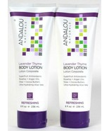 2 Count Andalou Naturals 8 Oz Refreshing Lavender Thyme Luxurious Body L... - $27.99