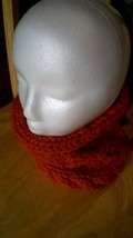 NEW Handmade Orange Cabled Bulky Knitted Cowl - €26,34 EUR