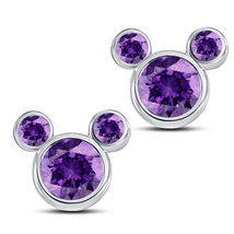 Purple Amethyst Women's Swirl Stud Earrings 14k White Gold Over Pure 925... - $35.84
