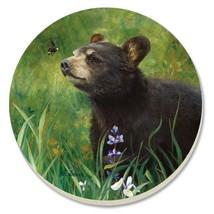 Counter Art Absorbent Stoneware Coasters Set of 4 Black Bear Cub NIB Mad... - $15.34