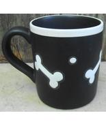 Dog Bone Mug Cup THL Black White Made in China - $12.99